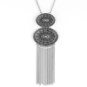 Sun Goddess - Silver Necklace